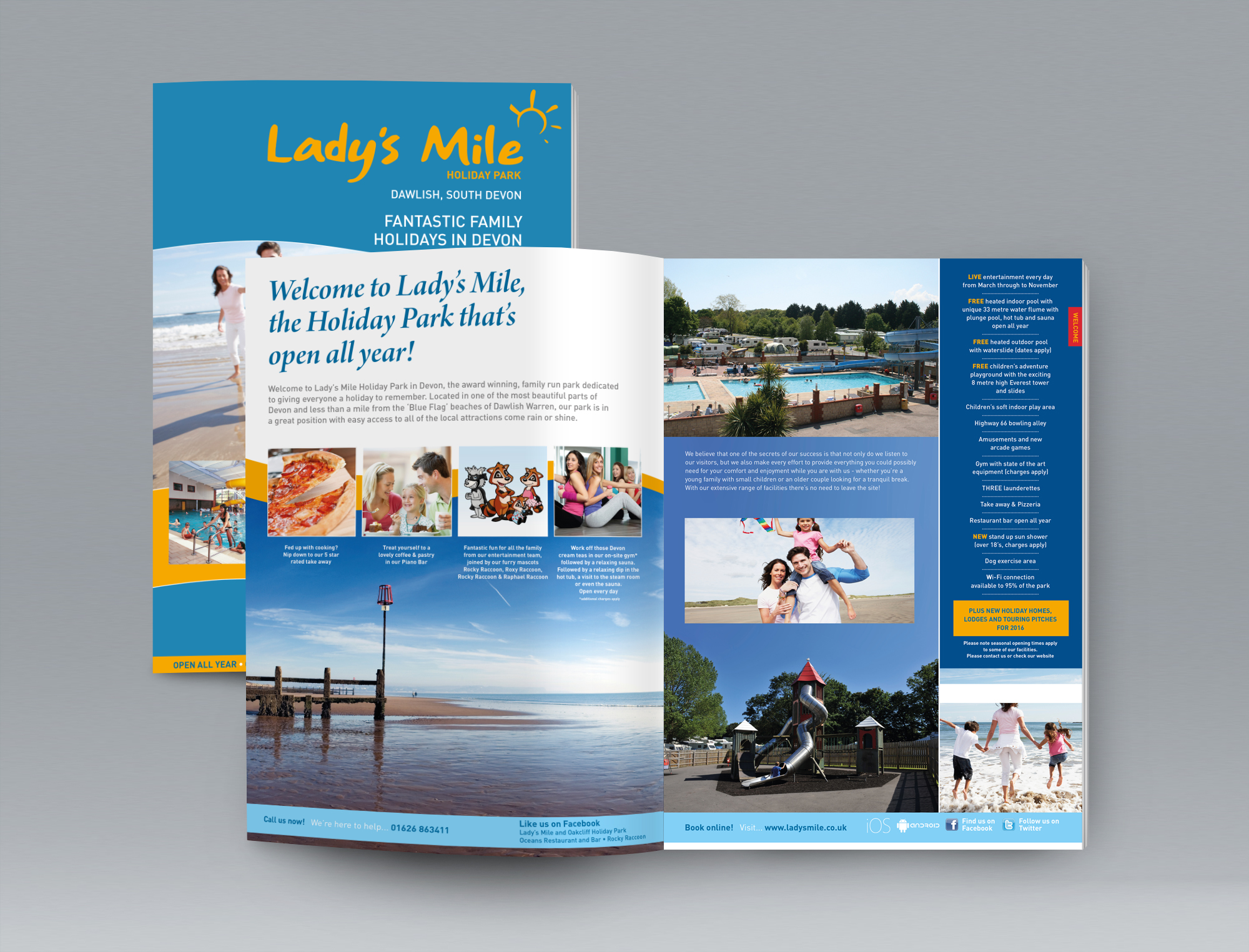 Brochure for a large holiday park