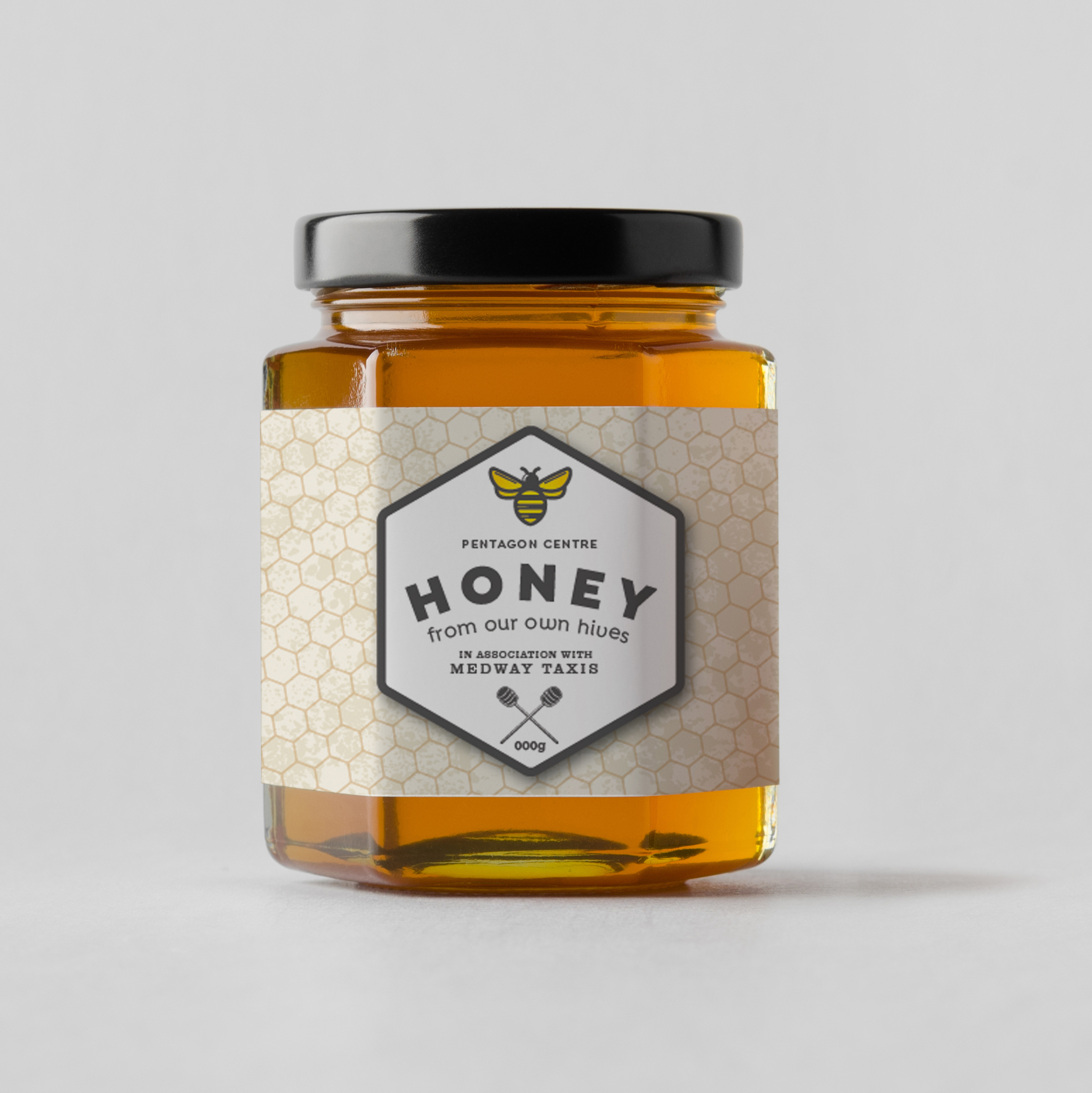 Part of a branding exercise for a honey supplier