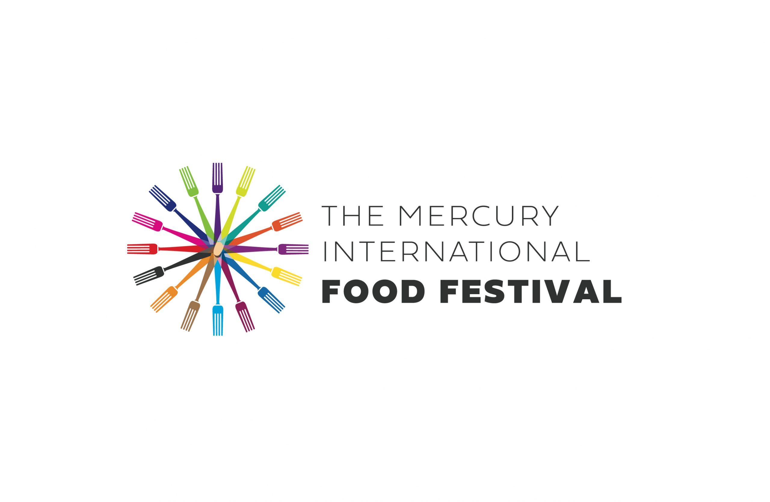 Logo for an international food festival