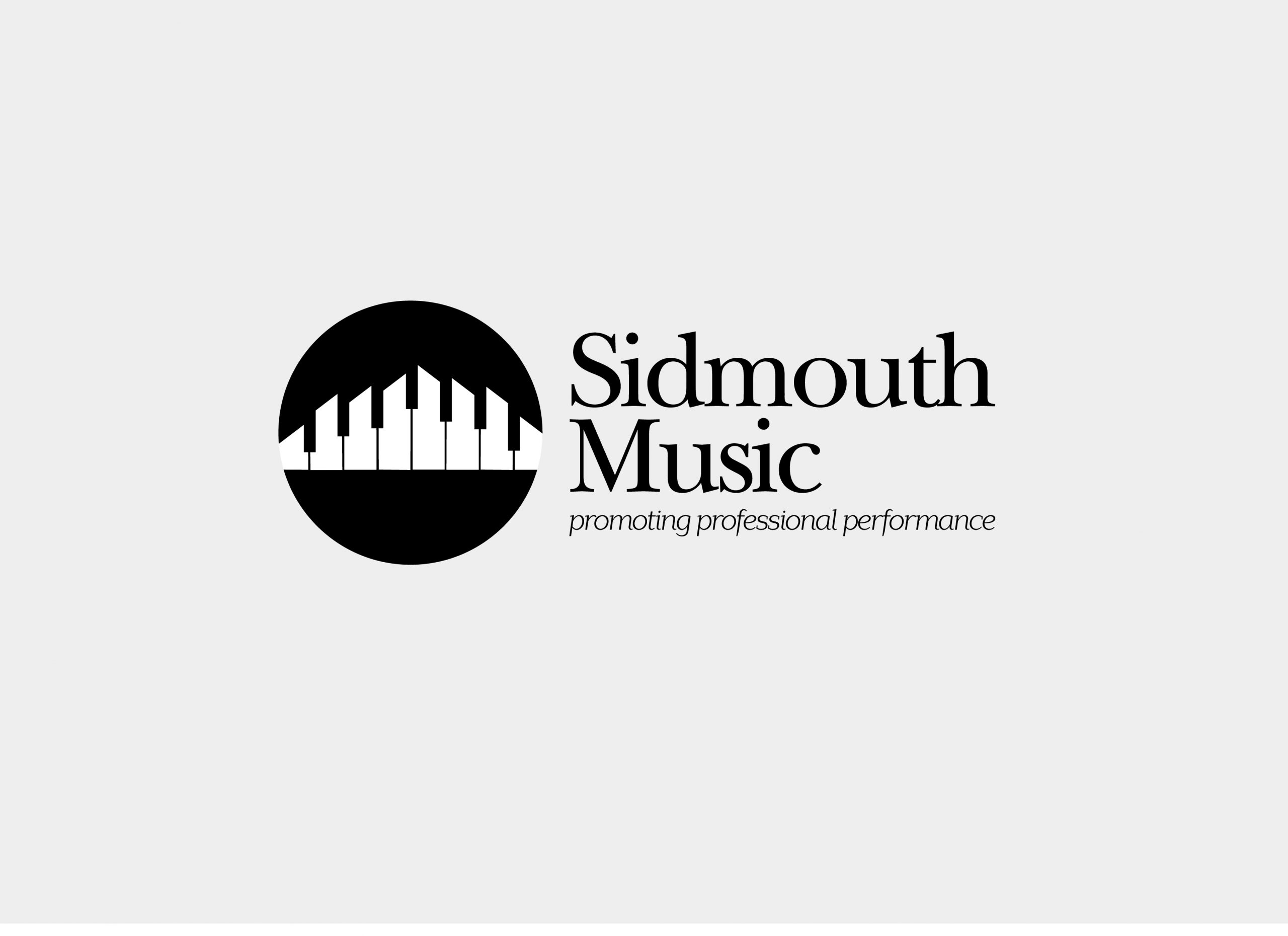 Proposed logo utilising the idea of a piano keyboard of the cliffs at Sidmouth