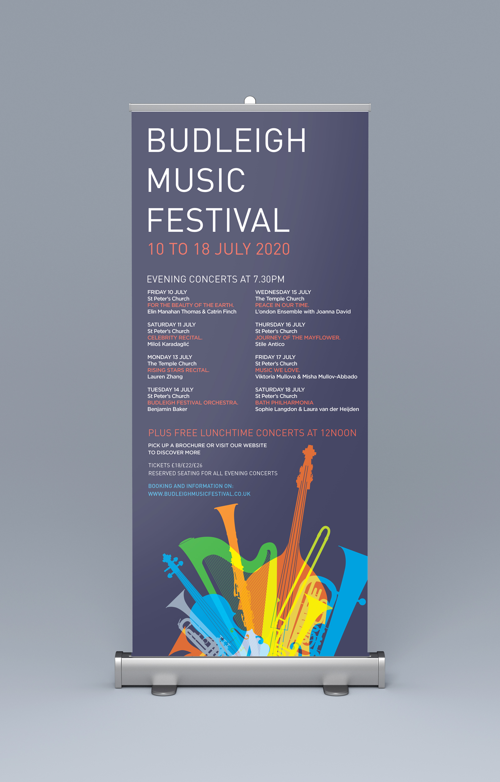Roller banner for the Budleigh Music Festival