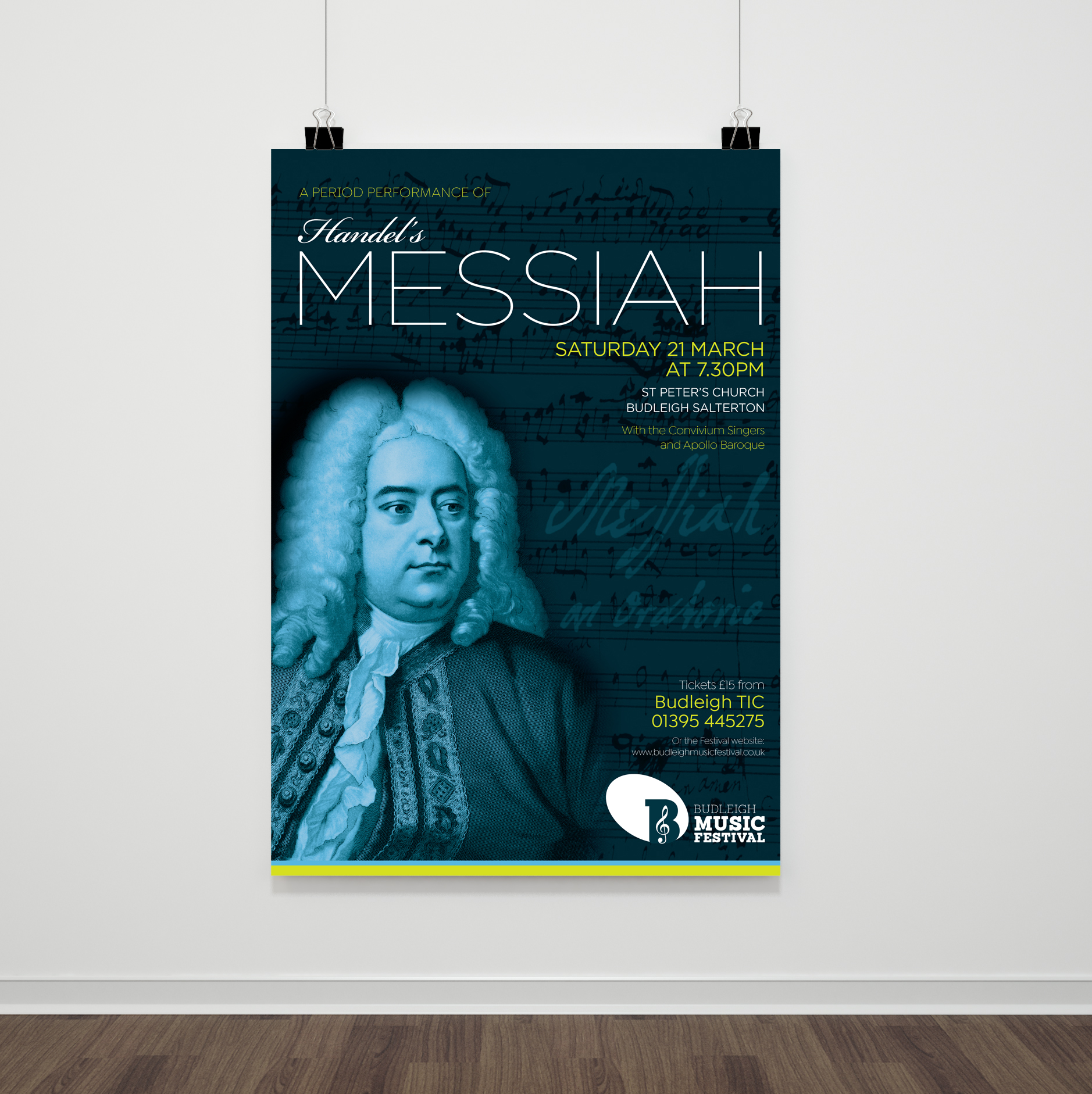 Poster design for a performance of Handel's Messiah