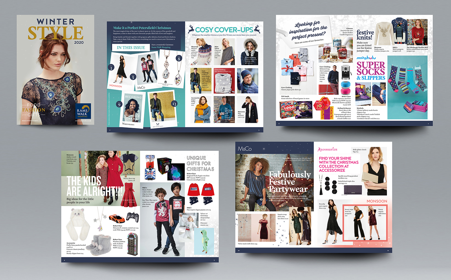 Page layout for a Shopping Centre Magazine