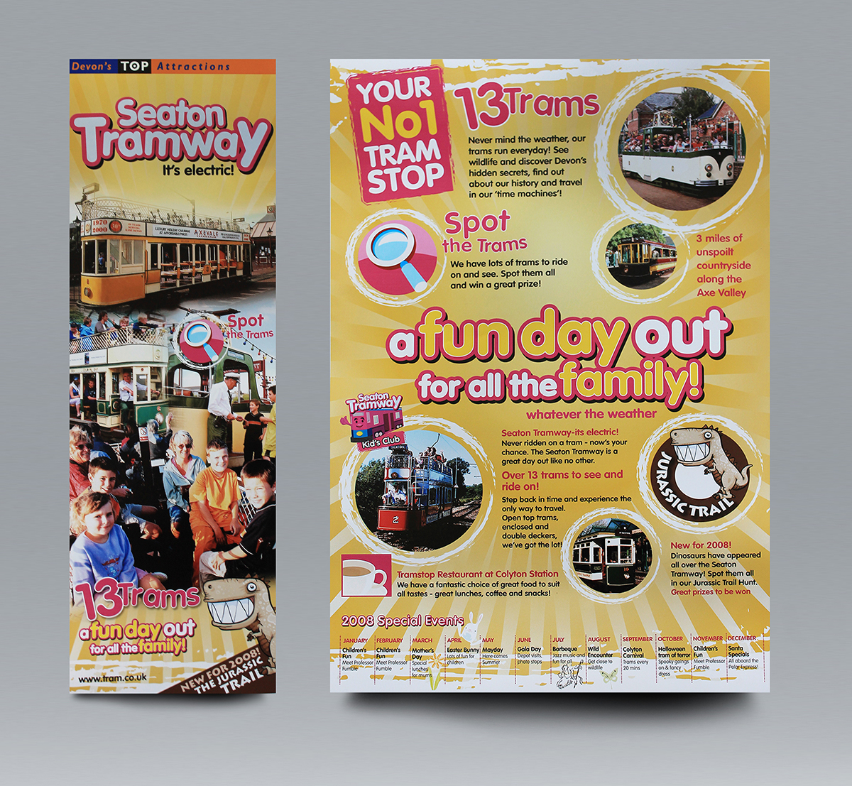 Tourist attraction leaflet for Seaton Tramway