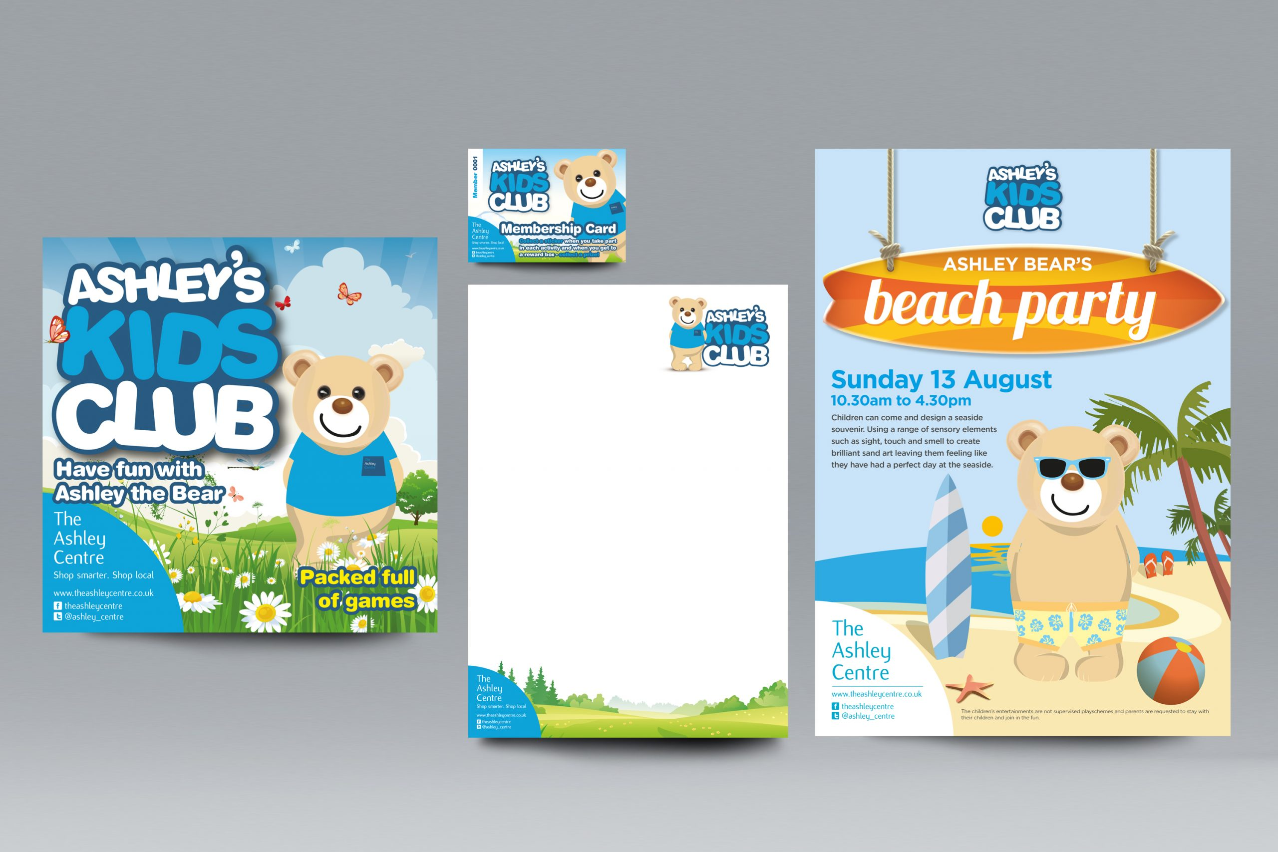 Branding package for a children's club
