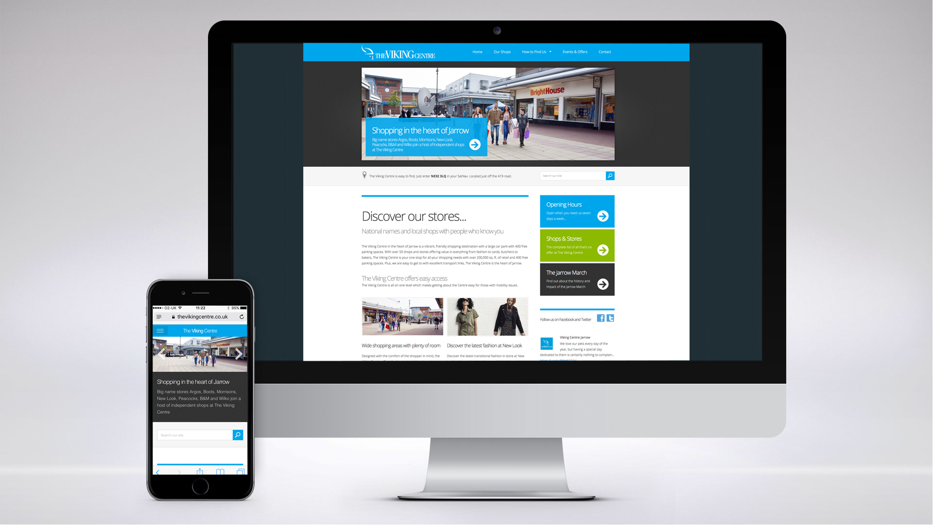 Website for The Viking Shopping Centre, Jarrow.